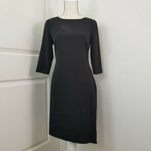 Halston Heritage Black Dress Twist Back
